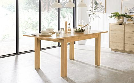 Hamilton Oak Extending Dining Table 120-170cm