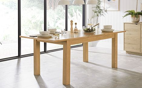 Hamilton Oak 150-200cm Extending Dining Table