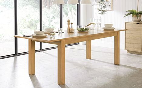 Hamilton Oak 180-230cm Extending Dining Table