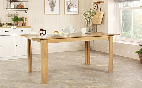 Bali Oak 150-180cm Extending Dining Table