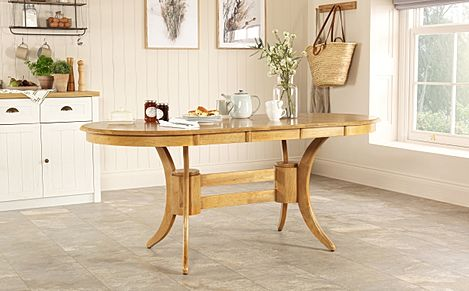Townhouse Oval Natural Oak Extending Dining Table 150-180