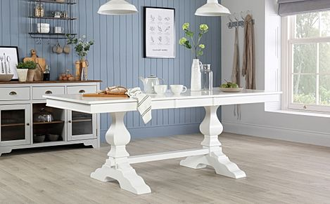 Cavendish White 160-200cm Extending Dining Table
