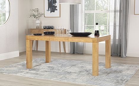 Cambridge Oak 125-170cm Extending Dining Table