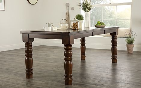 Hampshire Dark Wood 150-200cm Extending Dining Table