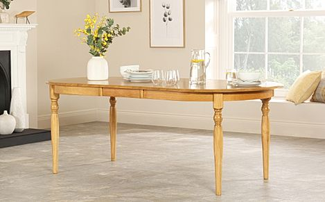 Albany Oval Oak Extending Dining Table 170-210cm