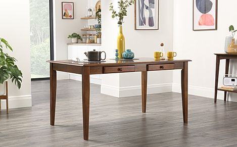 Wiltshire Dark Wood Dining Table with Storage-150cm