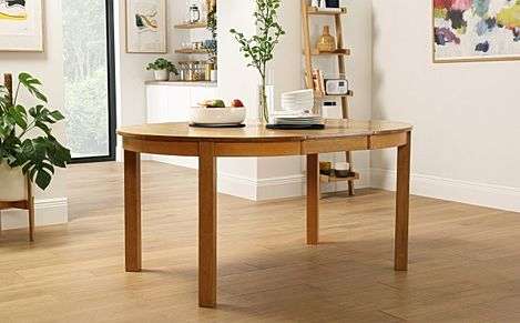Marlborough Round Oak Extending Dining Table 120-160cm