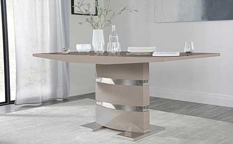 Komoro Taupe High Gloss 160cm Dining Table