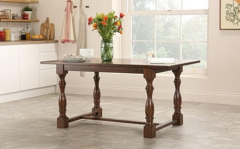 Devonshire Dark Wood Dining Table-160cm