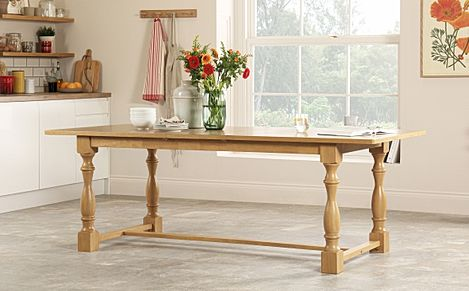 Devonshire Oak Extending Dining Table 180-220cm