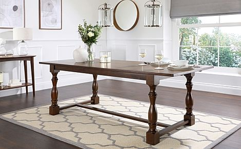 Devonshire Dark Wood Extending Dining Table-180-220cm