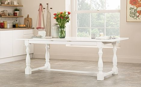 Devonshire White 180-220cm Extending Dining Table