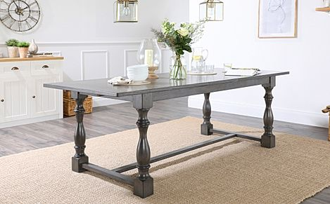 Devonshire Grey Wood Extending Dining Table 180-220cm