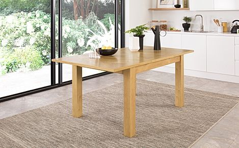 Madison Oak 120-170cm Extending Dining Table