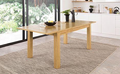 Madison Oak 150-200cm Extending Dining Table