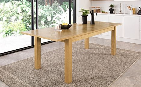 Madison Oak 180-230cm Extending Dining Table