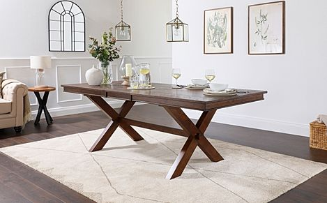 Grange Dark Wood Extending Dining Table 180-220cm