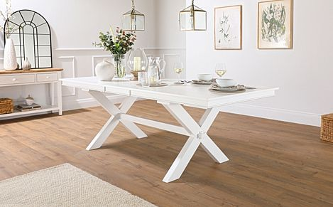 Grange White 180-220cm Extending Dining Table