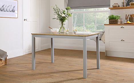 Milton Painted Grey and Oak 120cm Dining Table