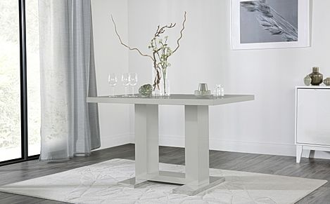 Joule Light Grey High Gloss 120cm Dining Table