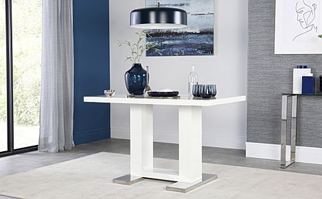 Joule White High Gloss 120cm Dining Table