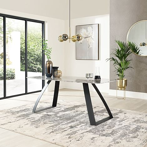 Ancona Marble 180cm Dining Table