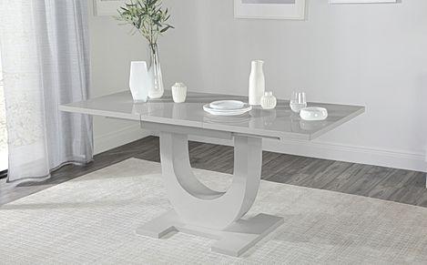 Oslo Grey High Gloss 120-160cm Extending Dining Table