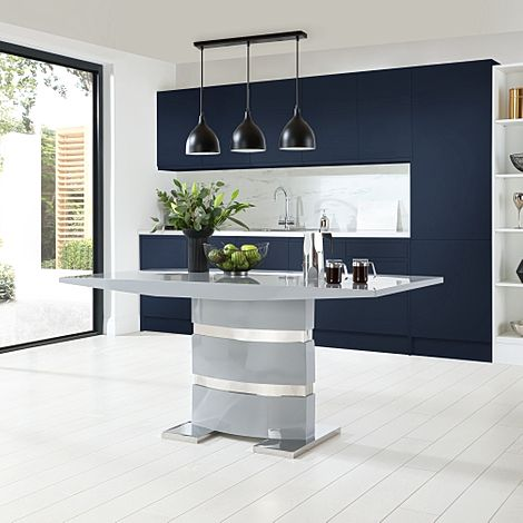 Komoro Grey High Gloss 160cm Dining Table