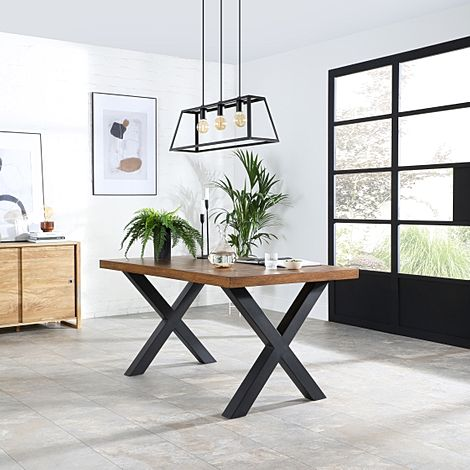 Franklin Industrial Oak 150cm Dining Table