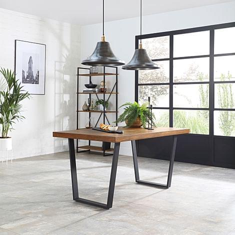 Addison 150cm Industrial Oak Dining Table
