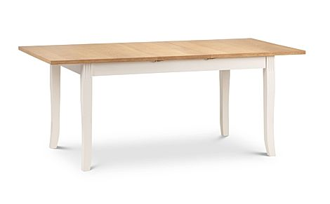 Lindale Ivory and Oak 150-190cm Extending Dining Table