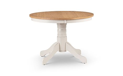 Lindale Round Ivory and Oak 106cm Dining Table