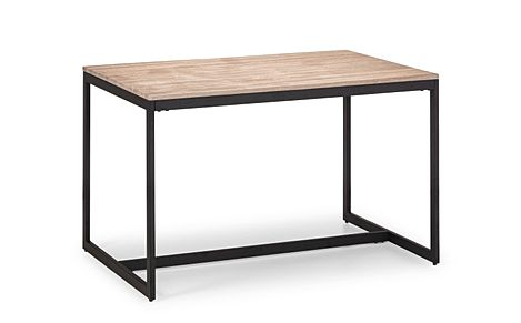 Newton Metal and Oak 120cm Industrial Dining Table