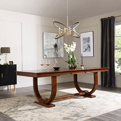Pavilion Dark Wood 180-225cm Extending Dining Table