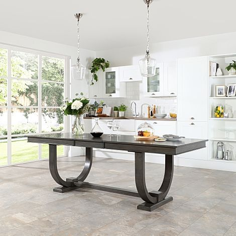 Pavilion Grey Wood 180-225cm Extending Dining Table