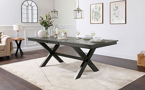 Grange Grey Wood 180-220cm Extending Dining Table
