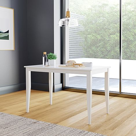 Finley White 114cm Dining Table