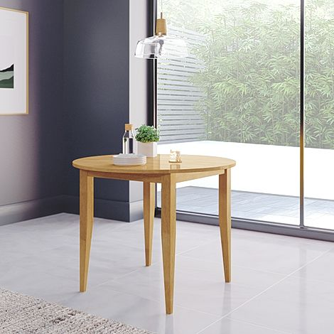 Finley Round Oak 90cm Dining Table
