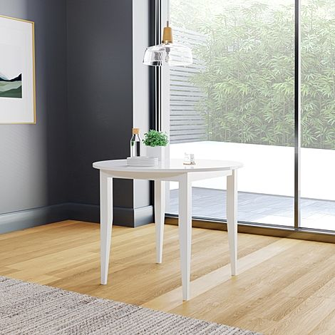 Finley Round White 90cm Dining Table