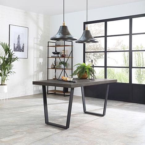 Addison 200cm Grey Wood Dining Table
