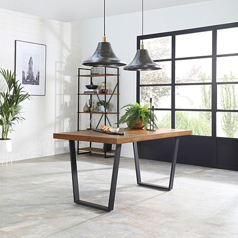 Addison 200cm Industrial Oak Dining Table