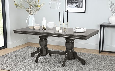 Chatsworth Grey Wood 150-180cm Extending Dining Table