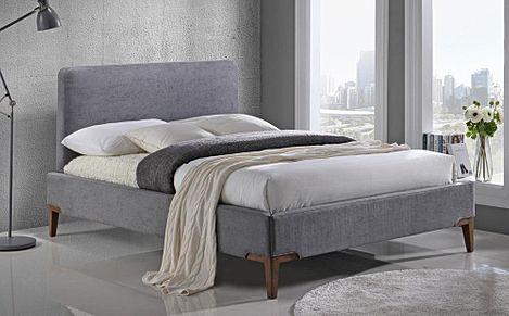 Andromeda Grey Fabric Super King Bed