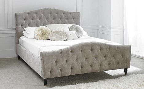 Phobos Mink Fabric Super King Bed