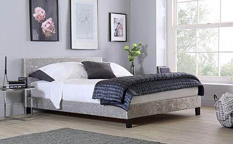 Berlin Silver Crushed Velvet King Size Bed