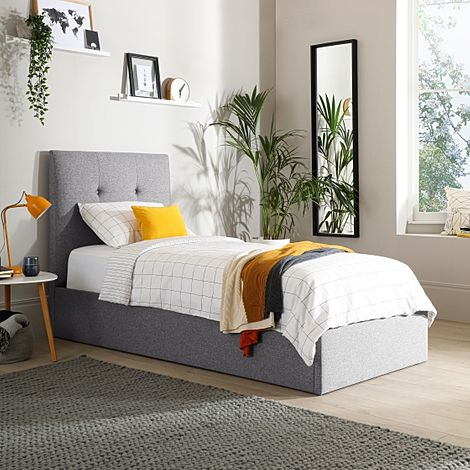 Caversham Grey Fabric Ottoman Single Bed