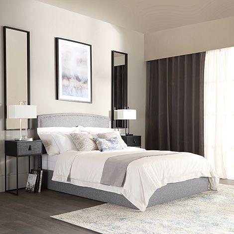 Eldon Grey Fabric King Size Bed