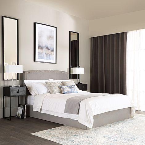 Eldon Grey Velvet King Size Bed
