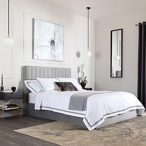 Astor Grey Velvet King Size Bed