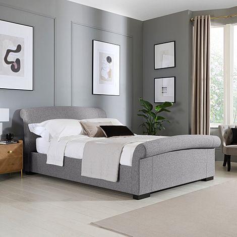 Buckingham Grey Fabric Ottoman King Size Bed